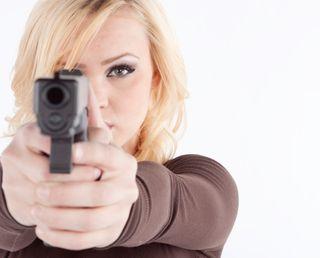 Woman-Shooting-Gun