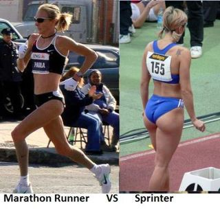 Marathon-runner-vs-sprinter-woman