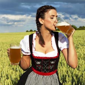 German-Woman-Drinking-Beer